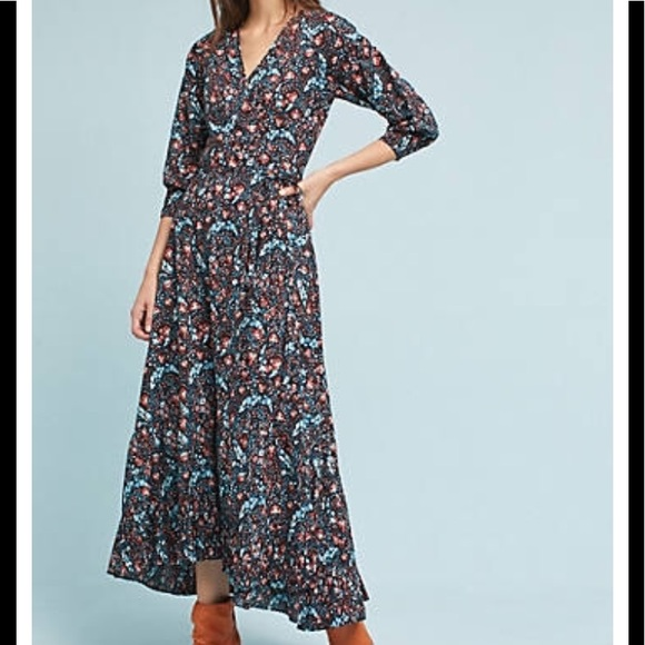Anthropologie Dresses & Skirts - Anthropologie Flannel Toulon wrap Dress